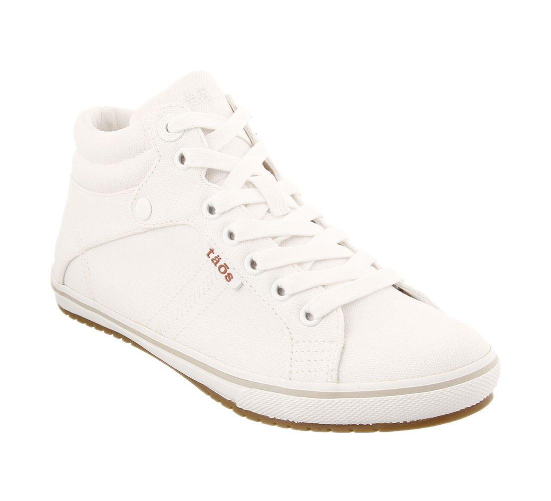 Taos Footwear Women's Top Star Graphite Distressed Sneaker 8 B (M) US B076VNQS31 8 M US|White