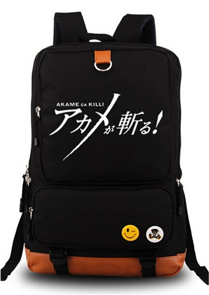 Siawasey Animeアカメが斬るコスプレ光バックパックデイパックブックバッグラップトップバッグスクールバッグ   B07DMZMFSC