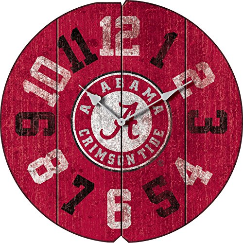 Imperial Officially Licensed NCAA Merchandise: Vintage Round Clock, Alabama Crimson Tide ()
