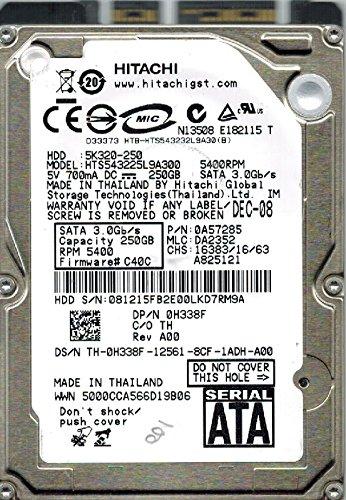 Hitachi HTS543225L9A300 P/N: 0A57285 MLC: DA2352 250GB