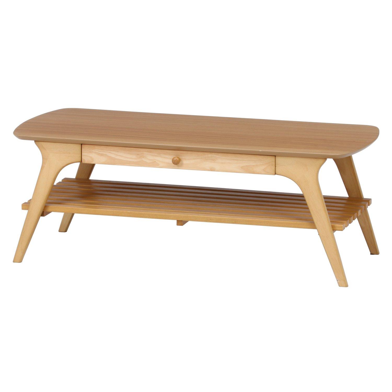 不二貿易 引出付き センターテーブル アルブ 幅110cm ナチュラル 37032 B019CFF97M ナチュラル ナチュラル
