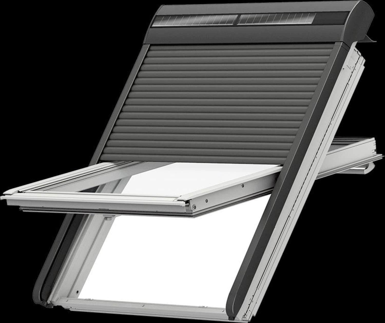 Velux Solar Rollladen Ssl 0000s Aluminium Dunkelgrau Amazon De