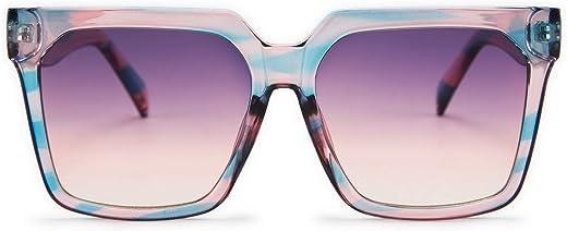 FEISEDY Womens Oversize Square Boyfriend Style Horned Rim Thick Plastic Sunglasses B2585