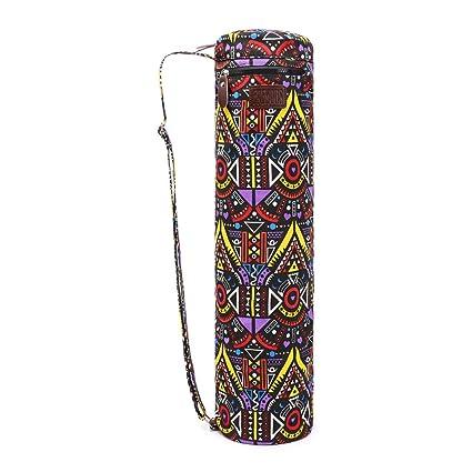 Fremous - Bolsa para Esterilla de Yoga y transportadores para Mujeres y Hombres - Bolsillos de Almacenamiento multifunción portátiles de Lona para Yoga, Maze