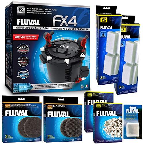 Fluval FX4 Filter w/Biomax, Filter, Bio & Carbon Foam & Filter Media