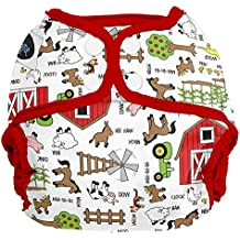 Imagine Baby Products Snap Diaper Cover, Barnyard Jam