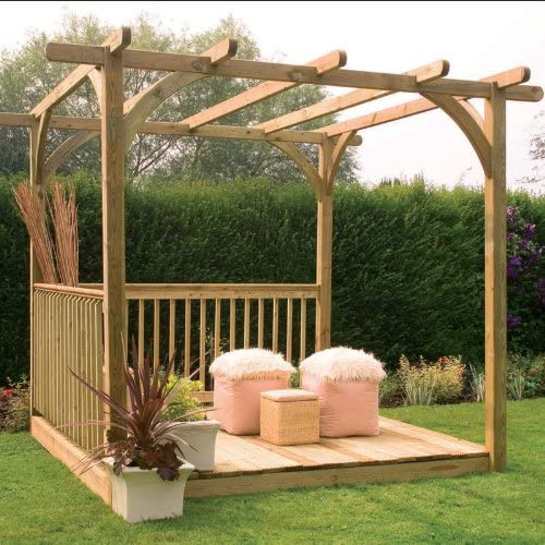 2, 4 x 2, 4 m tabla fácil Kit de Pergola: Amazon.es: Jardín