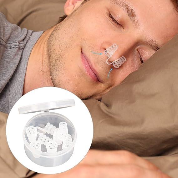 schnarchstopper, Premium Anti Antirronquidos Medio nasendilatatoren para nariz tiritas, Pinza para la nariz con antibacteriano y una práctica caja (8 ...