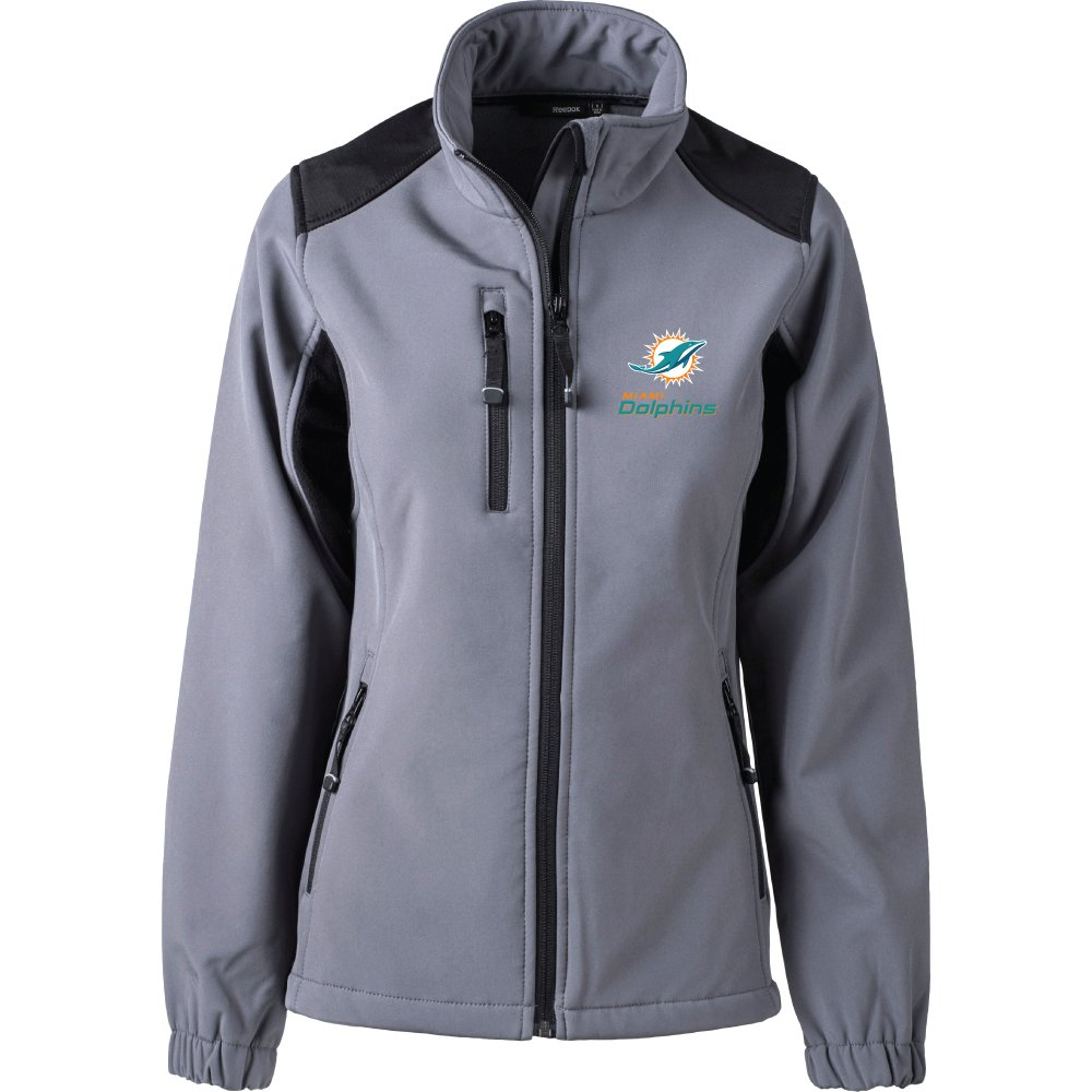 Größe Graphit L Dolphins Nfl Damen Jacke Softshell Miami 4ARL5j