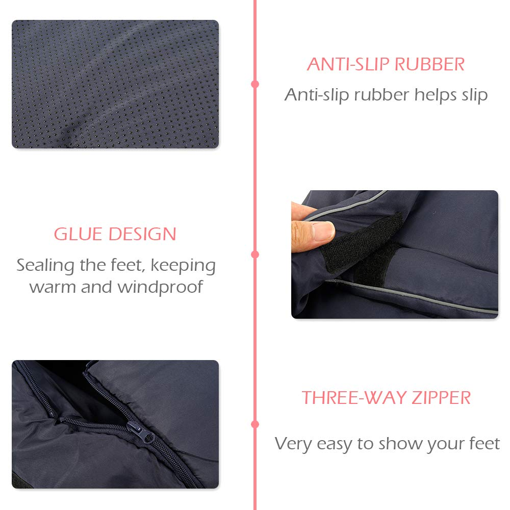 Universal Winter Footmuff for Pram Waterproof Baby Footmuff Cosy Toes Warm Stroller Sleeping Bag Pushchair Cosytoes Buggy Windproof Toes with Gloves for Car Seat Blue