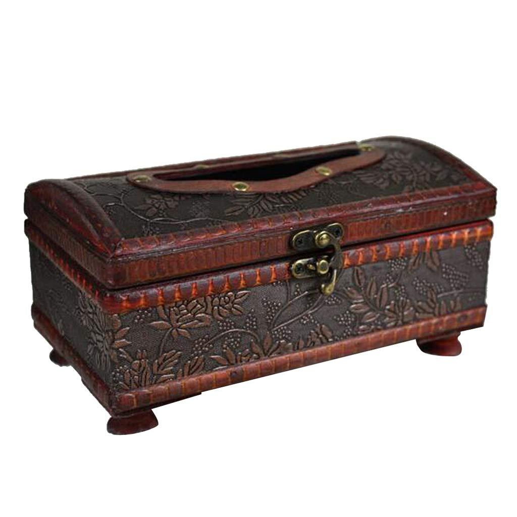 F Fityle Vintage Handgemachte Kosmetikt/ücherbox Kosmetikbox Taschentuchbox Kosmetiktuchspender A