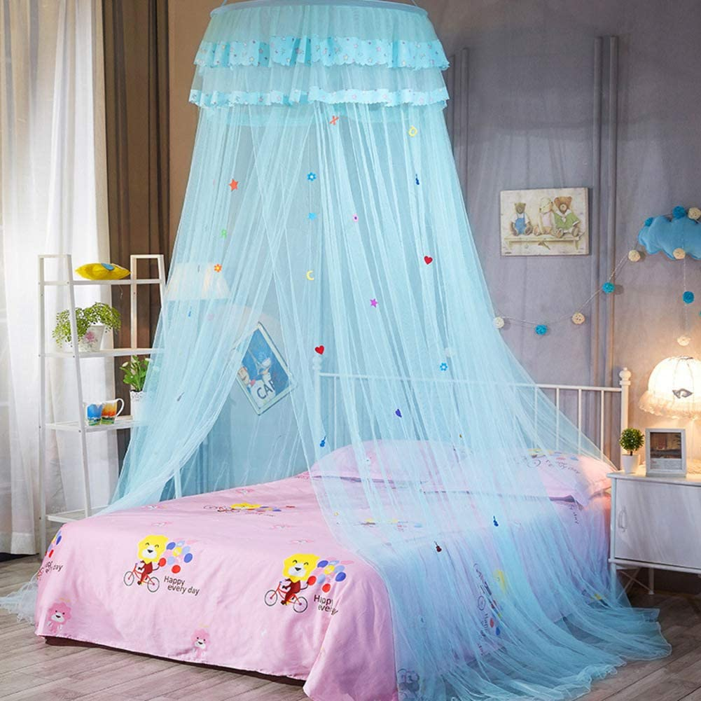 Potelin Mosquito Net Bed Hanging Centre Ring Elegant for Toddler Crib Cot Mosquito Net Mesh Dome Curtain Net Canopy Decorating Bedroom Durable and Useful
