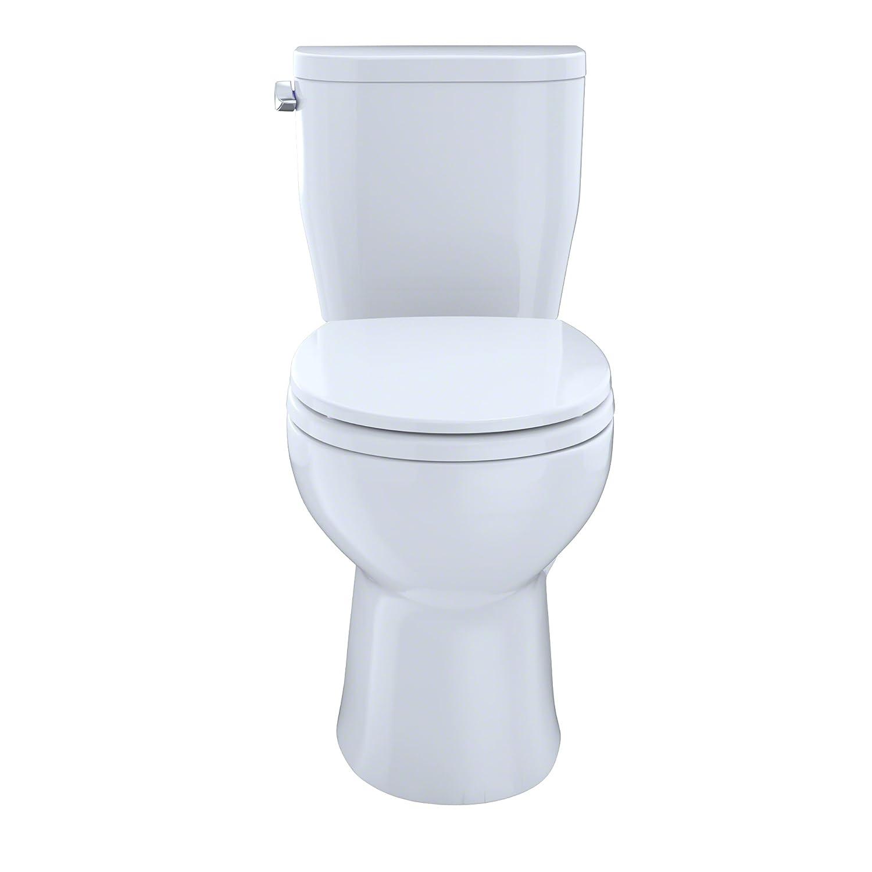 Toto CST243EF 01 Entrada 1 28GPF Round CalGreen Two Piece Toilet