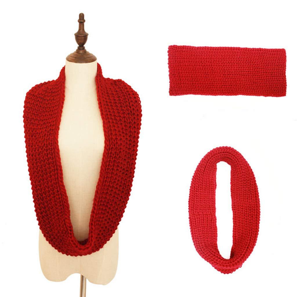 Biniwa - 1 pieza de pañuelo de punto de color sólido, bufanda de ...