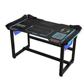 Pc gamer schreibtisch  E-Blue 1,2 m Gaming PC Schreibtisch mit Wireless LED Glow: Amazon ...