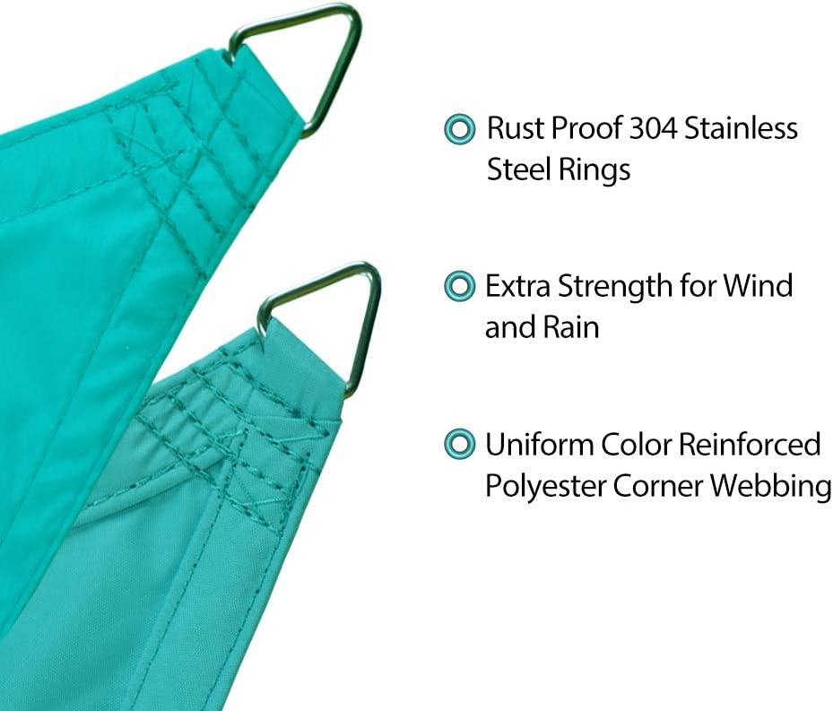 1, Forest Green Alion Home 12 x 16 Rectangle Waterproof Polyester Woven Sun Shade Sail