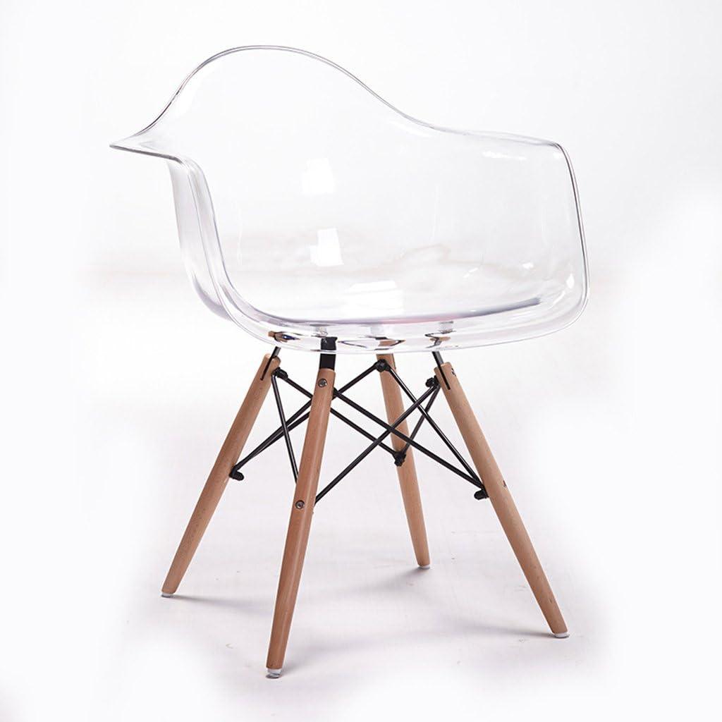 Amazon.com: White Transparent Arm Chair Chair Simple Creative