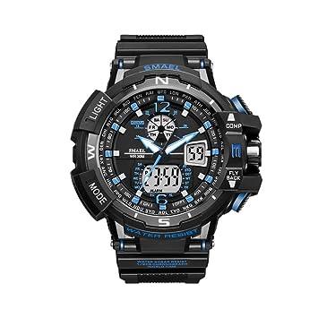 smael serie deporte hombres relojes S golpes marca reloj Relogio Militar Hombres Reloj De Pulsera Cuarzo Digital 1376 C Montre Homme LED relojes hombre, ...