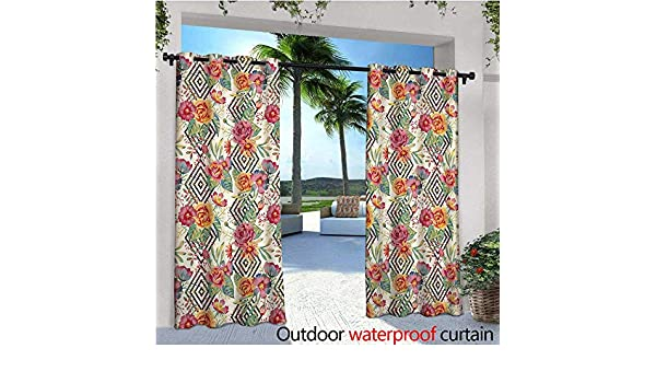 Watercolor Outdoor- Cortina de privacidad de pie para exteriores ...