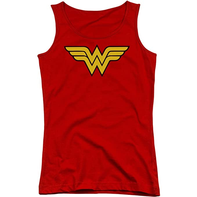 DC Comics Wonder Woman Logo Juniors Camiseta de tirantes camiseta