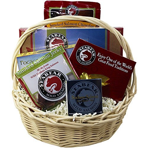 Classic Smoked Salmon and Seafood Lovers Gourmet Food Gift Basket (Salmon Gift Basket)