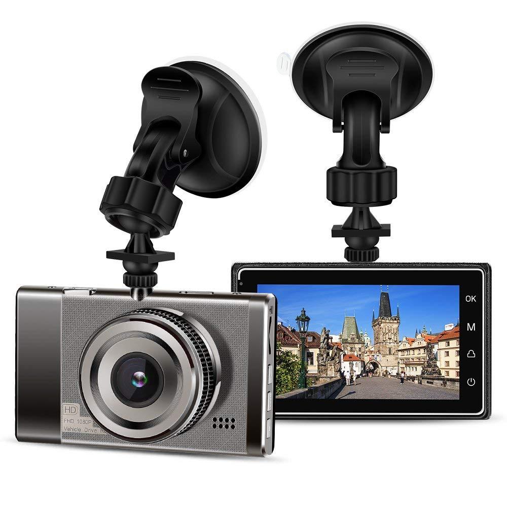 Hoyxel Dash Cam EG17 DVR 3.0 Pouce 1080 P Tableau de Bord Cam/éra Voiture V/éhicule Cam/éra avec G-Capteur en Boucle Enregistrement WDR