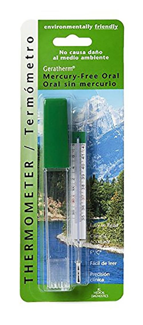 Pack of 2 Geratherm Mercury Free Oral Glass Thermometer Bundled by Maven Gifts