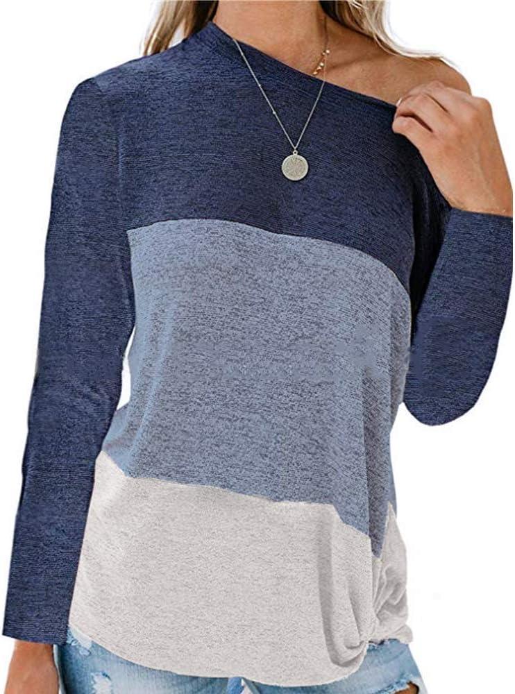 Primavera OtoñO Mujer Costura Camisa De Manga Larga Moda Mujer Camiseta Multicolor De Gran TamañO: Amazon.es: Ropa y accesorios