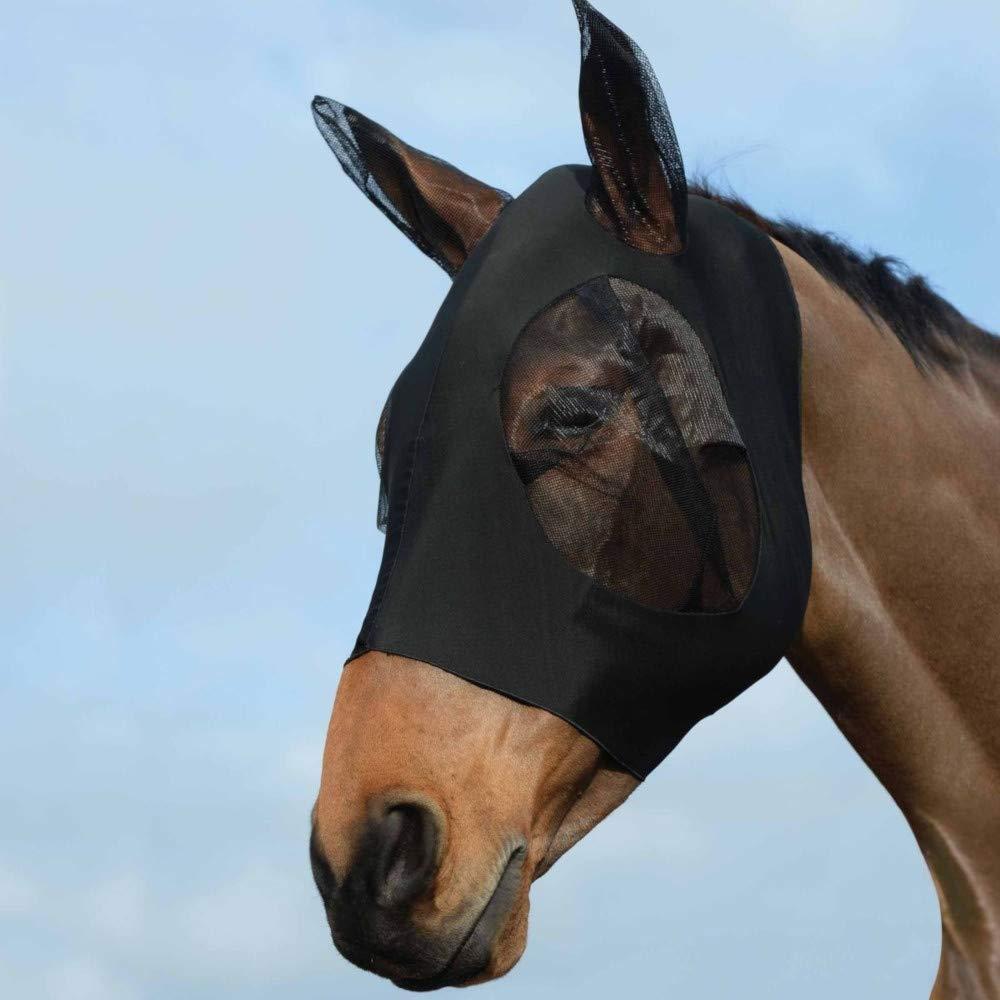 Weatherbeeta Stretch Bug Eye Saver with Ears (Full, Black/Black)