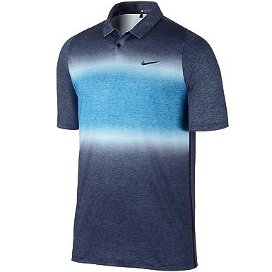 Nike TW Velocity Glow Stripe Golf Polo 2015 Midnight Navy/Photo Blue Large