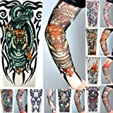 8 x AKORD® Stretch Nylon Fake Tattoo Sleeves / Arms - Fancy Dress, Tribal / Tiger / Skull Tattoo