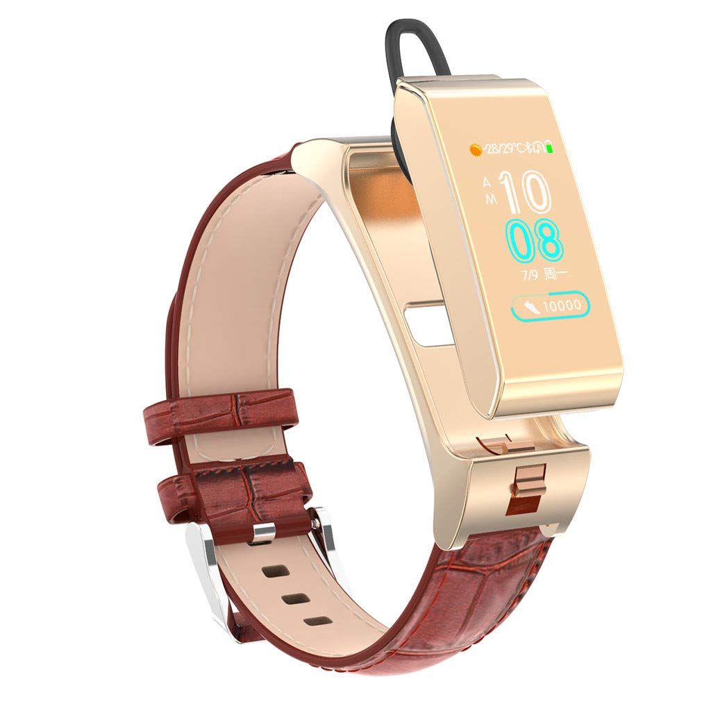 Ketuan Smart Watch Fitness Tracker Blood Pressure Heart Rate Monitor Sports Bracelet for Andriod Phone,Calories,Distance,Message,We Chat,Facebook (Gold) by Ketuan