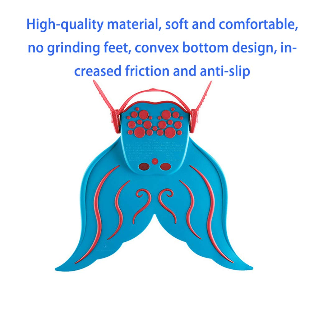 BlueSpace Swim Fins for Kids Monofin Mermaid Tail Adjustable Fins Foot Flippers Sports Aquatic Exercise for Swimming Training Diving Girls Boys