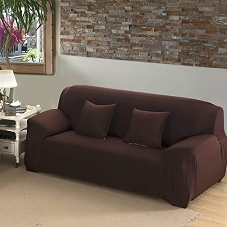 INMOZATA 3 Seater Sofa Slipcover Stretch Elastic Fabric Protector Soft Couch  Cover Washable Easy Fit (