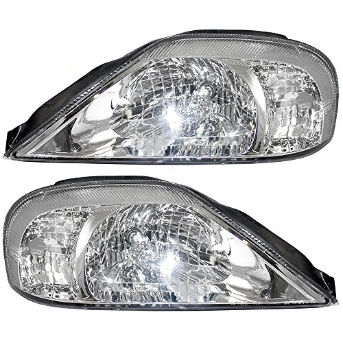 Driver and Passenger Halogen Headlights Headlamps Replacement for 00-05 Mercury Sable 1Z4F13008BB 1F4Z13008BA
