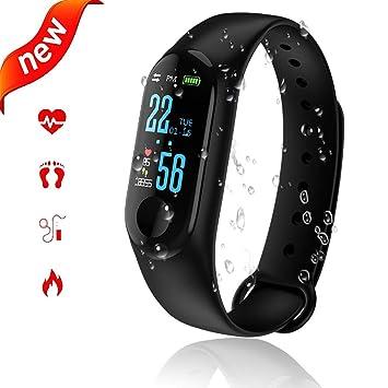 Reloj Inteligente,Smartwatch Pulsera Actividad Inteligente Impermeable IP67 Pantalla Color Pulsera Podómetro con Pulsómetro, Monitor de Calorías, ...
