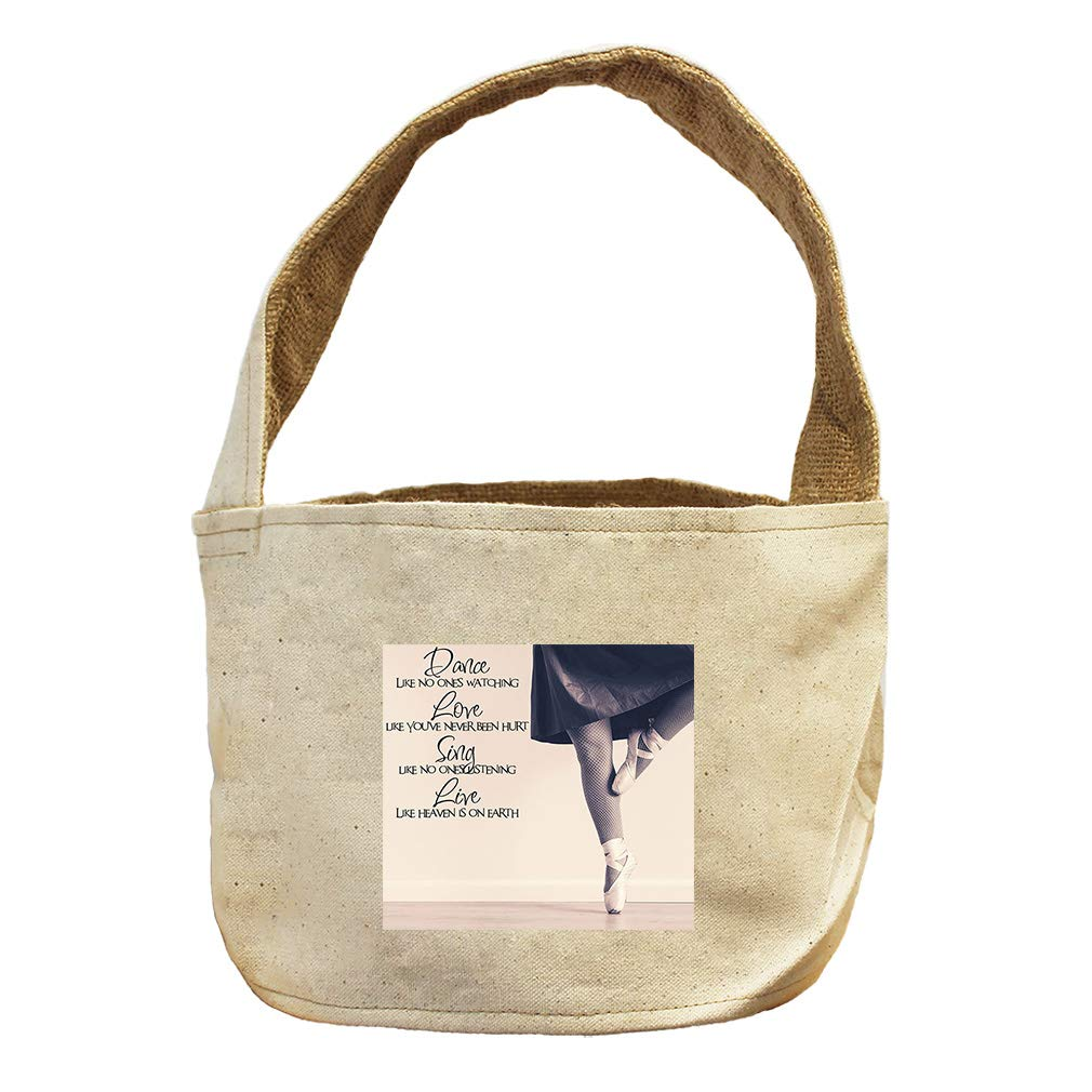 Style in Print Dance, Love, Sing Like Heaven On Earth #2 Canvas and Burlap Storage Basket