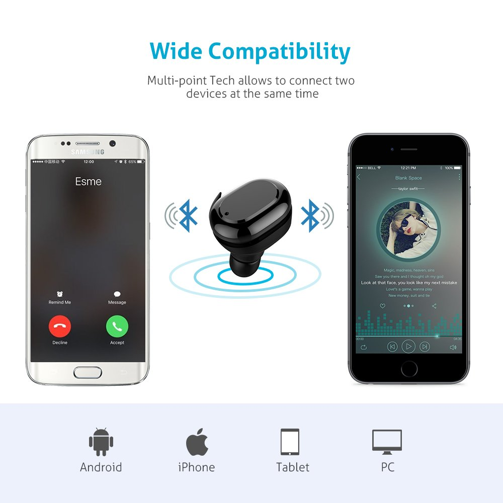 Amazon.com: True Wireless Earbuds, Meidong Stereo Bluetooth Headphones Sweatproof Sports In Ear Earphones with Portable Charging Box and Built-in Mic for ...
