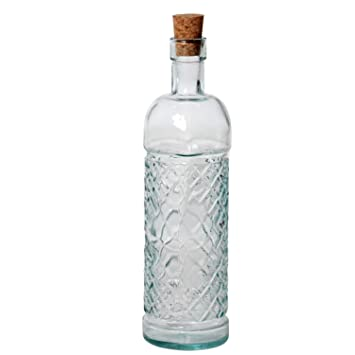 SuskaRegalos-Set 6 Botellas Vidrio Reciclado Transparente_7x24 Cm