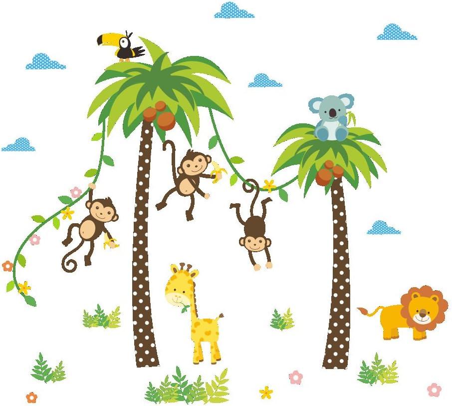 ElecMotive Selva Mono Pegatina para pared decorativos para Decorar Las habitaciones de los niños