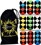3x Pro Thud Juggling Balls (Deluxe-SUEDE) Professional Juggling Balls Set of 3 + Travel Bag! (Blue)