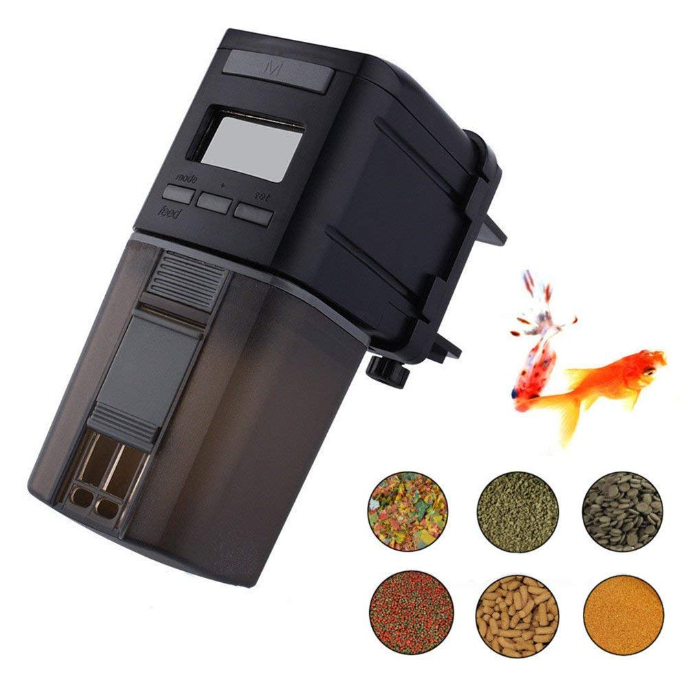 soled Fish Feeder, Automatic Fish Feeder, Auto Digital Fish&Turtle Feeder Food Timer for Aquarium&Fish Tank Batteries Included for Weekend,Vacation