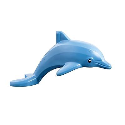 LEGO Friends Disney Minifigure - Dolphin Sea Animal figure (Bright Light Blue): Toys & Games