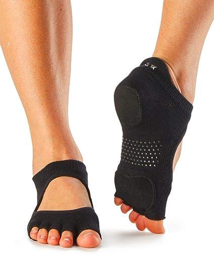 ToeSox Womens Bellarina Half Toe Grip Yoga Pilates Barre Toe Socks