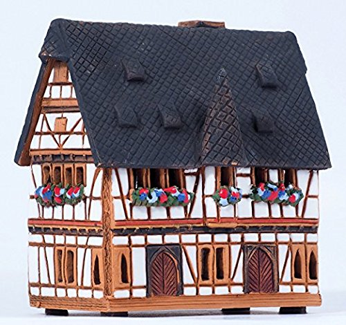 Ceramic minature aroma house, incense Burner. Germany, Town hall in Schotten. Midene Small size House Incense