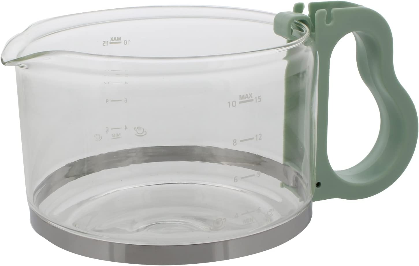 Codiac jarra 340 156 Repuesto para Philips HD 7444 HD 7956 de cristal verde Comfort