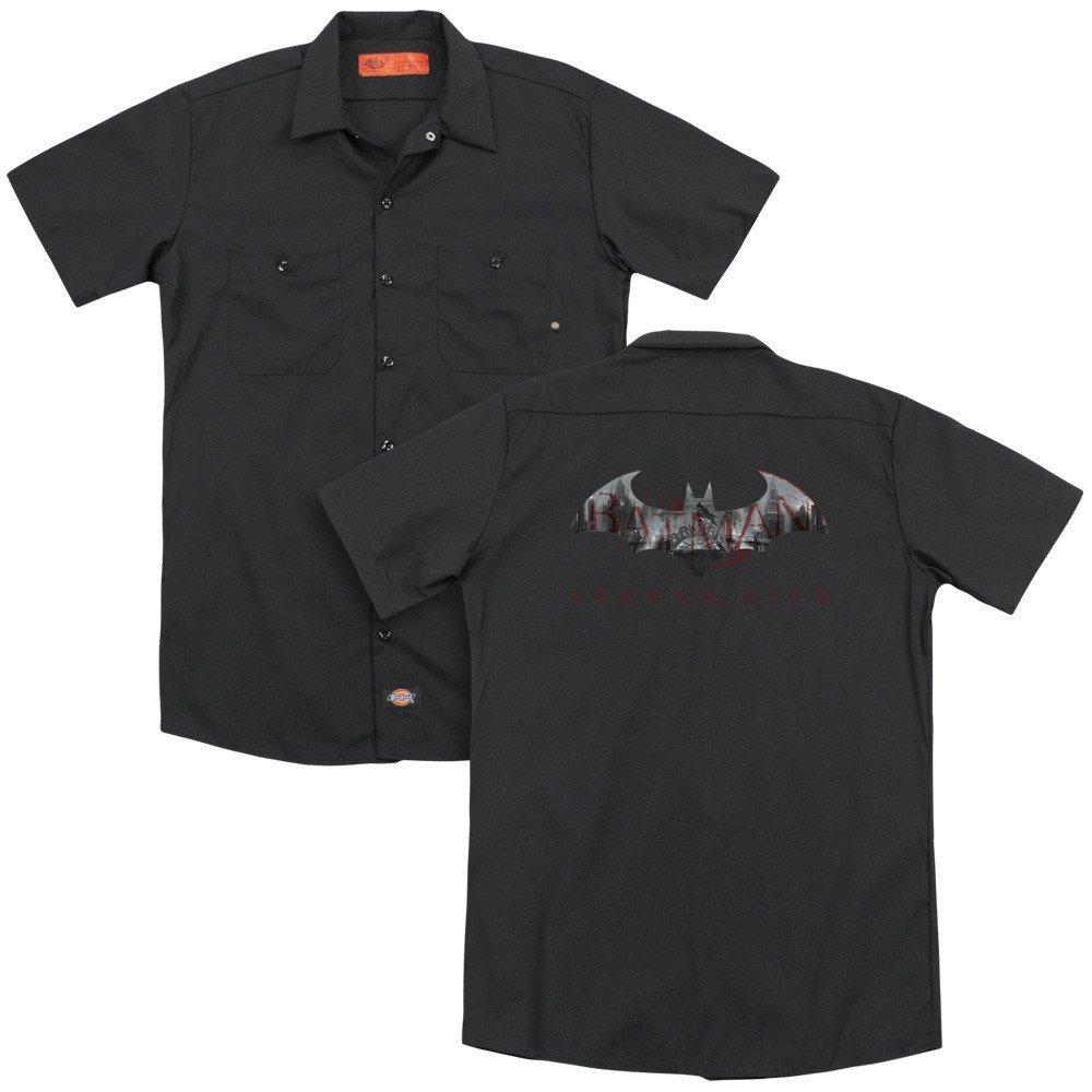 Bat Fill Adult Work Shirt Arkham City
