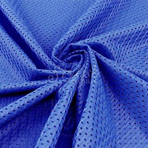 Royal Football Mesh Knit Fabric by The Yard 1 Yard