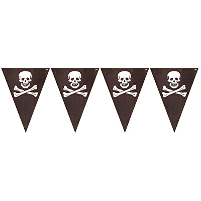 Creative Converting Buried Treasure Party Flag Banner - 295185: Childrens Party Supplies: Kitchen & Dining