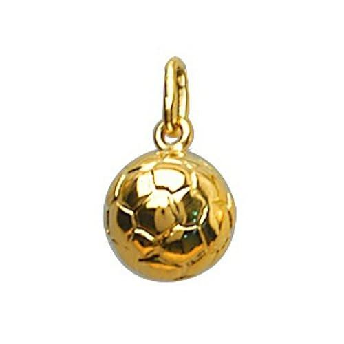 Colgante de balón de fútbol de - chapado en oro: Amazon.es: Joyería